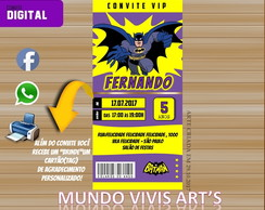 Convite Ingresso Batman Digital