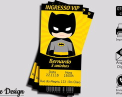 CONVITE DIGITAL BATMAN TIPO INGRESSO