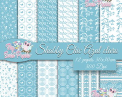 KIT DIGITAL Shabby Chic Azul Claro