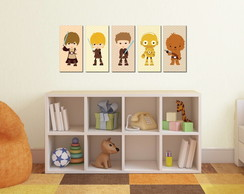 Kit 5 Quadros Decorativos Star Wars Baby