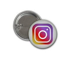 Botton Instagram - 2,5cm