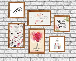 "Kit Posters Decorativos ""Happy"""