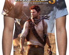 Camiseta Game Uncharted 3 Drake´s Deception Mod 02