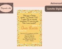 Arte digital convite Princesa Rosa | Fazendoart | Elo7