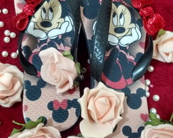 Sandália customizada decorada Minnie