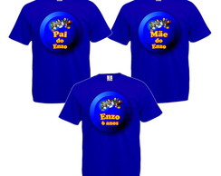 Kit 3 Camisetas Personalizadas Club Penguin