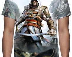 Camiseta Assassins Creed Black Flag Mod 02 - Estampa Total