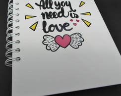 Caderno All you need is love 2