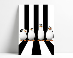 Placa decorativa pinguins madagascar A4-P1065