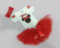 Body Customizado, Saia Tutu E Tiara