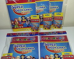 Kit Colorir Revistinha Super Hero Girls