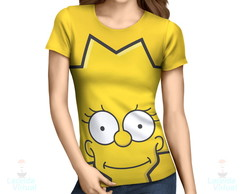 Camisa, Camiseta Lisa Simpson Rosto - Estampa Total