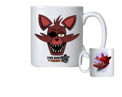 Caneca de Porcelana fnaf five nights at freddy's foxy creepy
