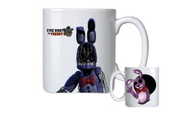 Caneca de Porcelana fnaf five nights at freddy's bonnie