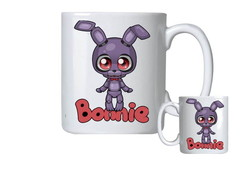 Caneca de Porcelana fnaf five nights at freddy's bonnie toy