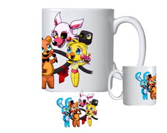 Caneca de Porcelana fnaf five nights at freddy's foxy mangle