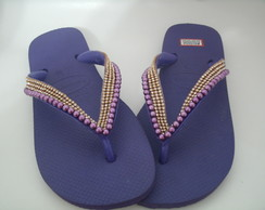 Chinelo decorado havaianas top roxo