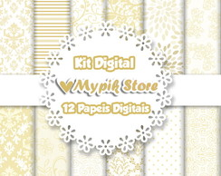 Kit Papel Digital Floral Casamento 19