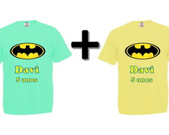 Kit 2 Camisetas Coloridas Batman
