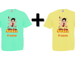 Kit 2 Camisetas Coloridas Betty Boop