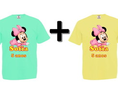 Kit 2 Camisetas Coloridas Minnie Baby