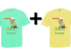Kit 2 Camisetas Coloridas Handy Manny