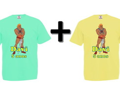 Kit 2 Camisetas Coloridas He-Man