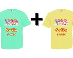 Kit 2 Camisetas Coloridas Lalaloopsy