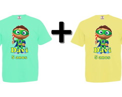 Kit 2 Camisetas Coloridas Super Why!