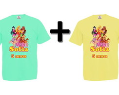 Kit 2 Camisetas Coloridas Winx Club