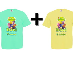 Kit 2 Camisetas Coloridas Os Backyardigans