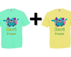 Kit 2 Camisetas Coloridas Furby