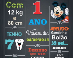 PLACA DECORATIVA EM MDF MICKEY