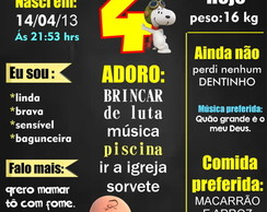 PLACA DECORATIVA EM MDF SNOPPY