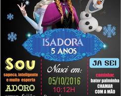 PLACA DECORATIVA EM MDF FROZEN
