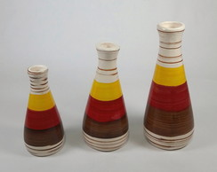 Trio de Vasos Decorativo