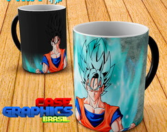 Caneca Mágica Dragon Ball Goku SSJ blue
