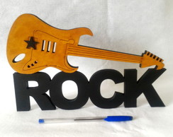 GUITARRA DO ROCK Moldura Decorativa em mdf