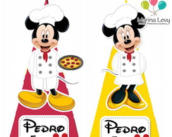 Cone Quadrado - Pizzaria do Mickey