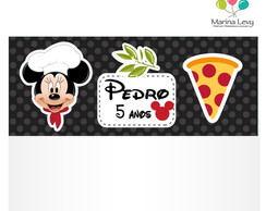 Lapela com Saquinho - Pizzaria do Mickey
