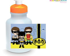 Rótulo para Squeeze 300 ml- Batman e Robin Cute