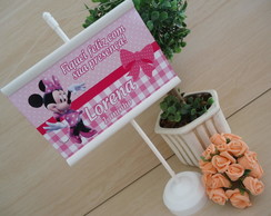 Mini Banner De Mesa Minnie Rosa