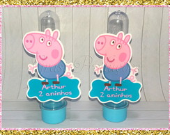 Mini Tubete com Aplique 3D George Pig -Peppa Pig