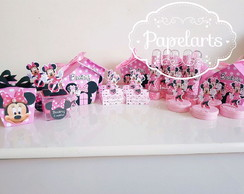 kit festa personalizada Minnie Rosa