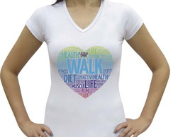 Camiseta baby look Casual Walk