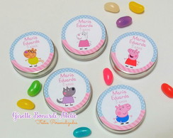 Latinha Mint to be Personalizada Peppa Pig