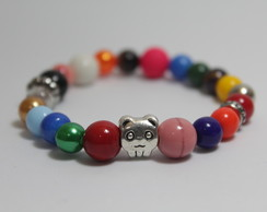 Pulseira Mix Colors Berloque Urso