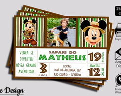 CONVITE DIGITAL MICKEY SAFARI COM FOTO