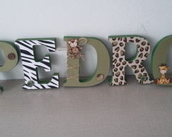 LETRAS DECORADAS SAFARI ( FLORESTA )