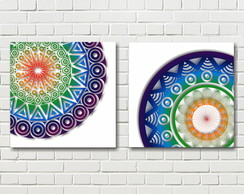 Quadro Decorativo Duo Mandalas PRONTA ENTREGA